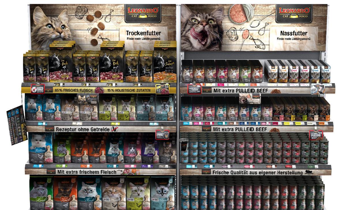 LEONARDO catfood Verkaufsregal